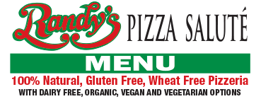 Randy's Premier Pizza Menu